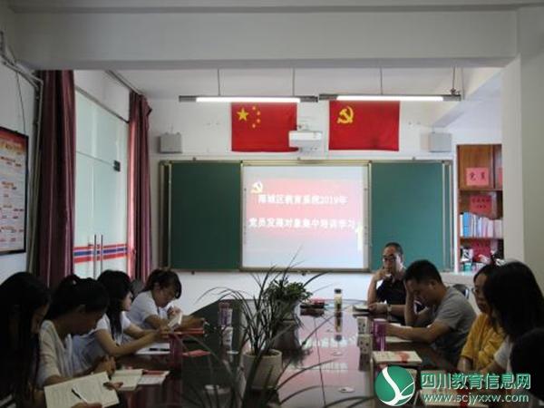 雨城区委教育工委组织开展2019年党员发展对象集中培训