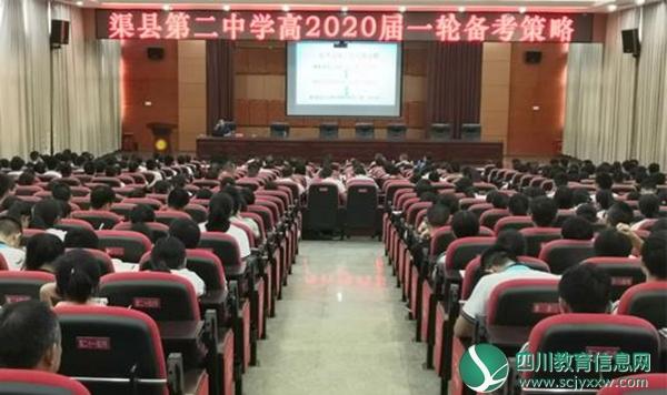 渠县第二中学特邀江西金太阳教育集团院长来校举办高三备考讲座