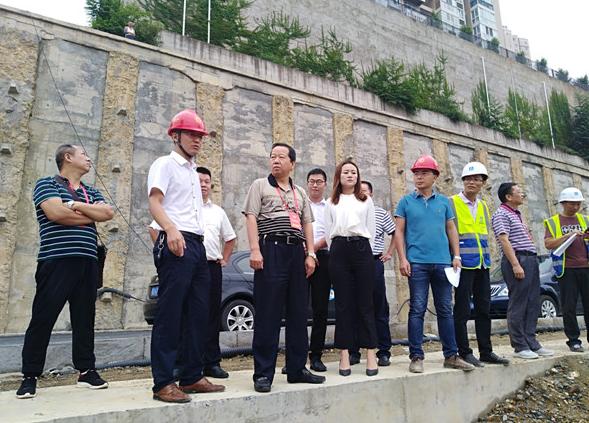 东区政协主席率队督查恒大城幼儿园项目