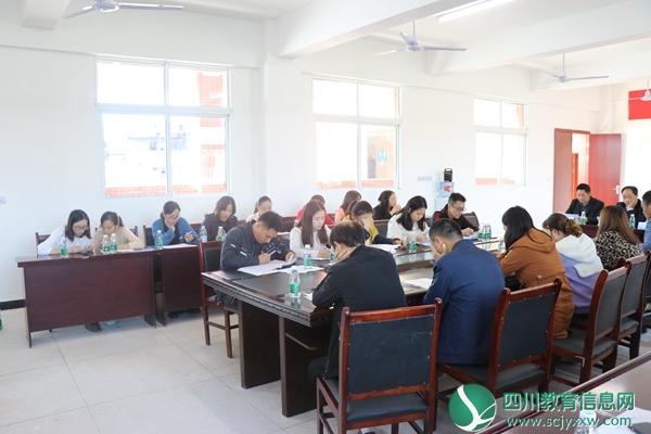 甘棠初级中学召开七年级教师会议
