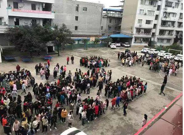 资中地震丨全县各校学生迅速安全疏散,目前无人员伤亡