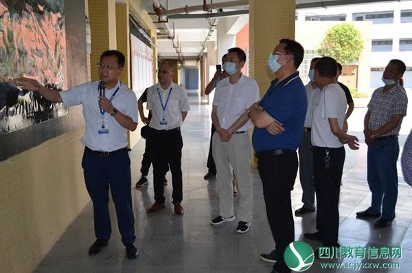 遂宁市安居区人大常委会领导到安居一中组织开展禁毒工作检查