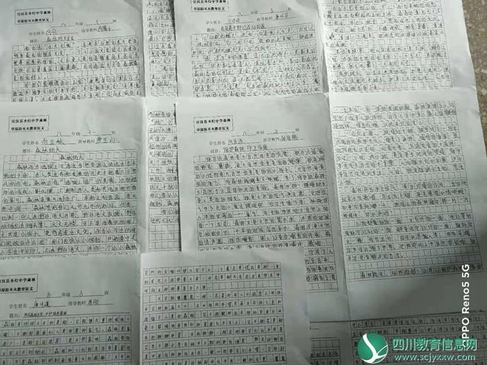 宣汉县圣灯中学开展森林防火征文评选活动