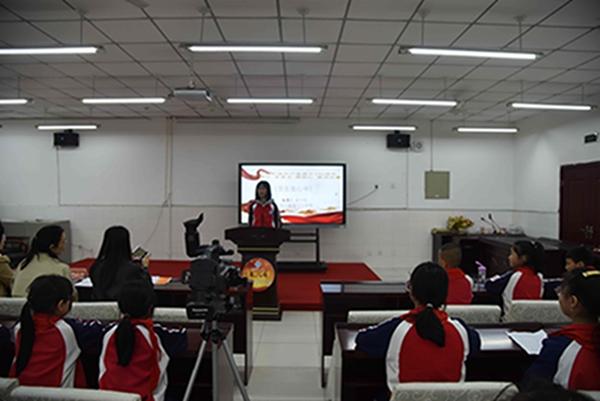 """汶川县漩口小学校举行""""红领巾、学党史、树初心""""演讲比赛"""