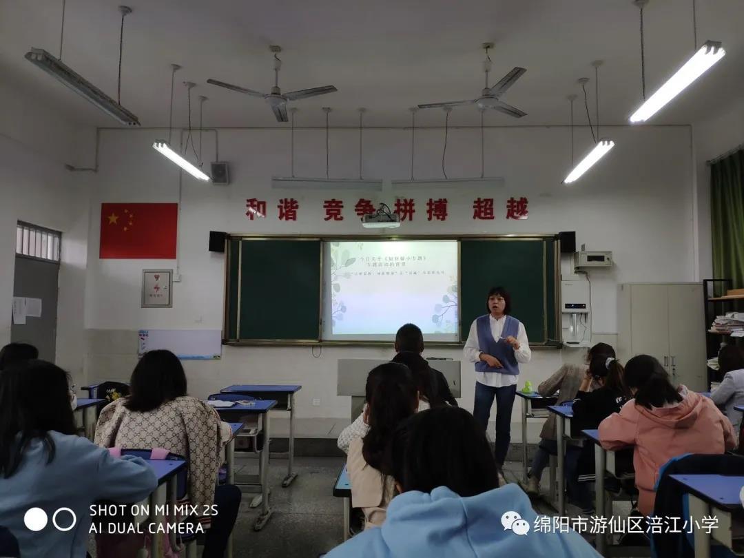 涪江小学开展《我是这样做小专题》专题培训分享会